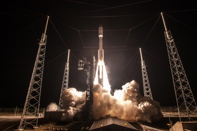 GOES-R lifted off at 6:42 p.m. EST on November 19, 2016 from Cape Canaveral Air Force Station's Space Launch Complex 41, aboard a United Launch Alliance Atlas V 541 rocket. Credit: ULA