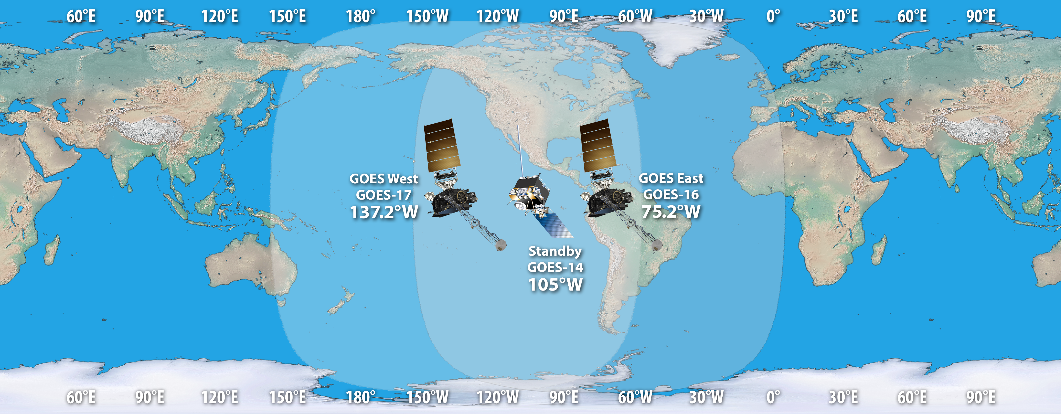 GOES constellation coverage in the GOES-R era.