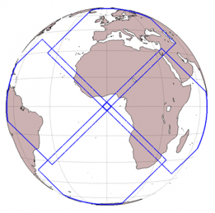 Graphic of Earth showing field of view