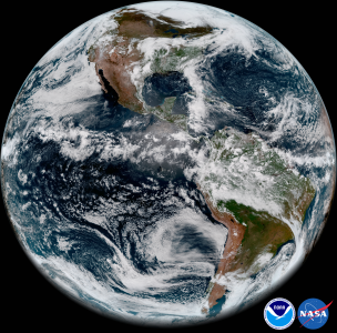 GOES-17 ABI full disk view of Earth's Western Hemisphere from its checkout position on May 20, 2018